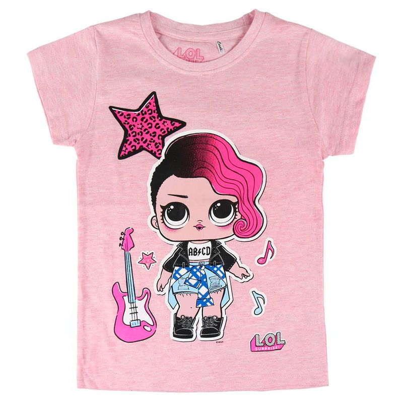 Kurzarm-T-Shirt für Kinder LOL Surprise 74045 Rosa