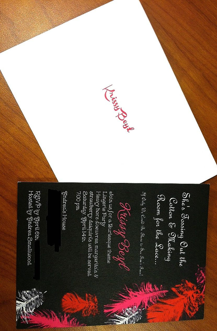 what do you say on wedding invitation%0A The bridal shower invitation I made  So proud     Krissy Beyl can