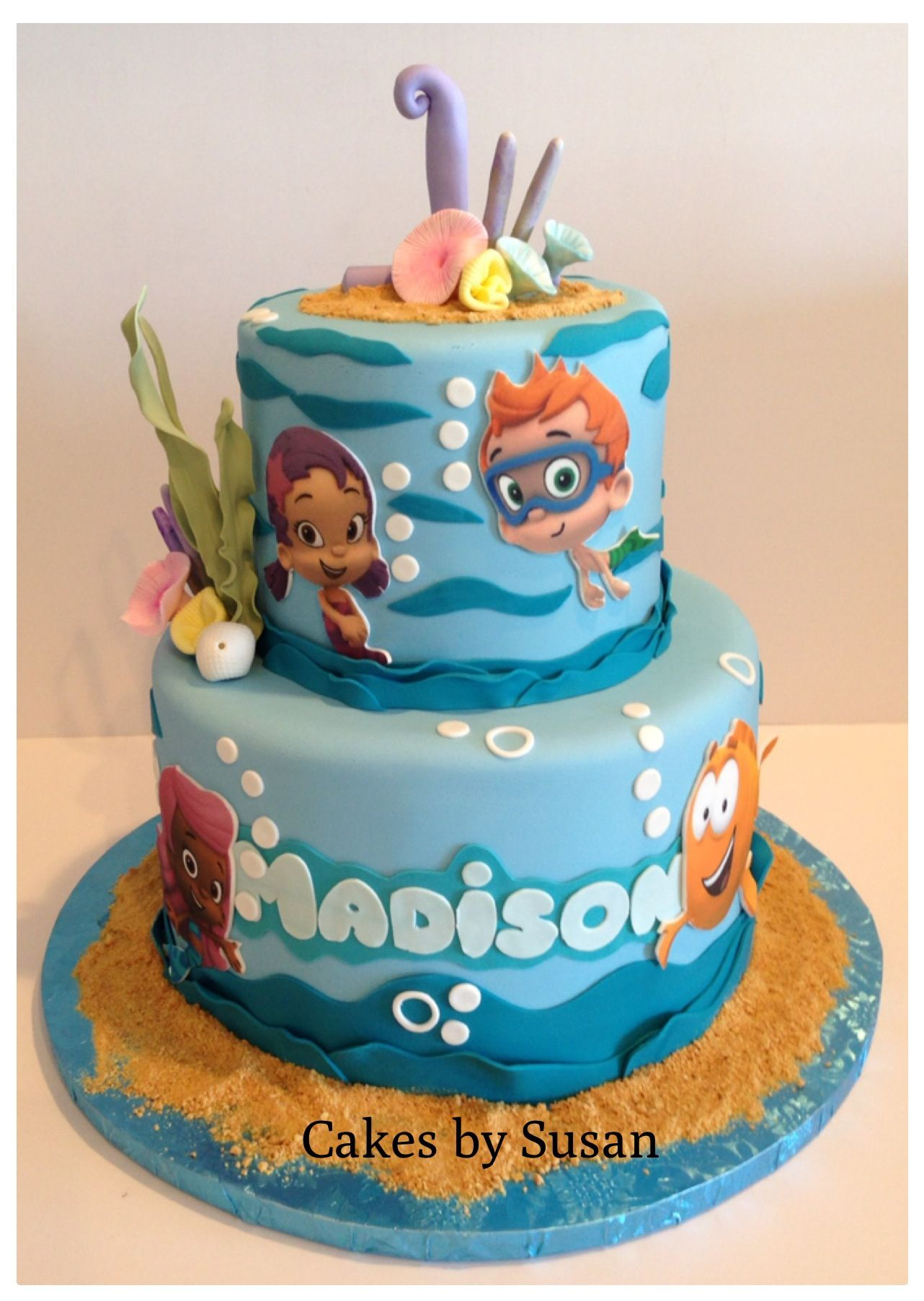 Bubble Guppies 1st Birthday Cake Bubble Guppies Birthday Cake Birthday Cake Toppers Bubble Guppies Birthday Party