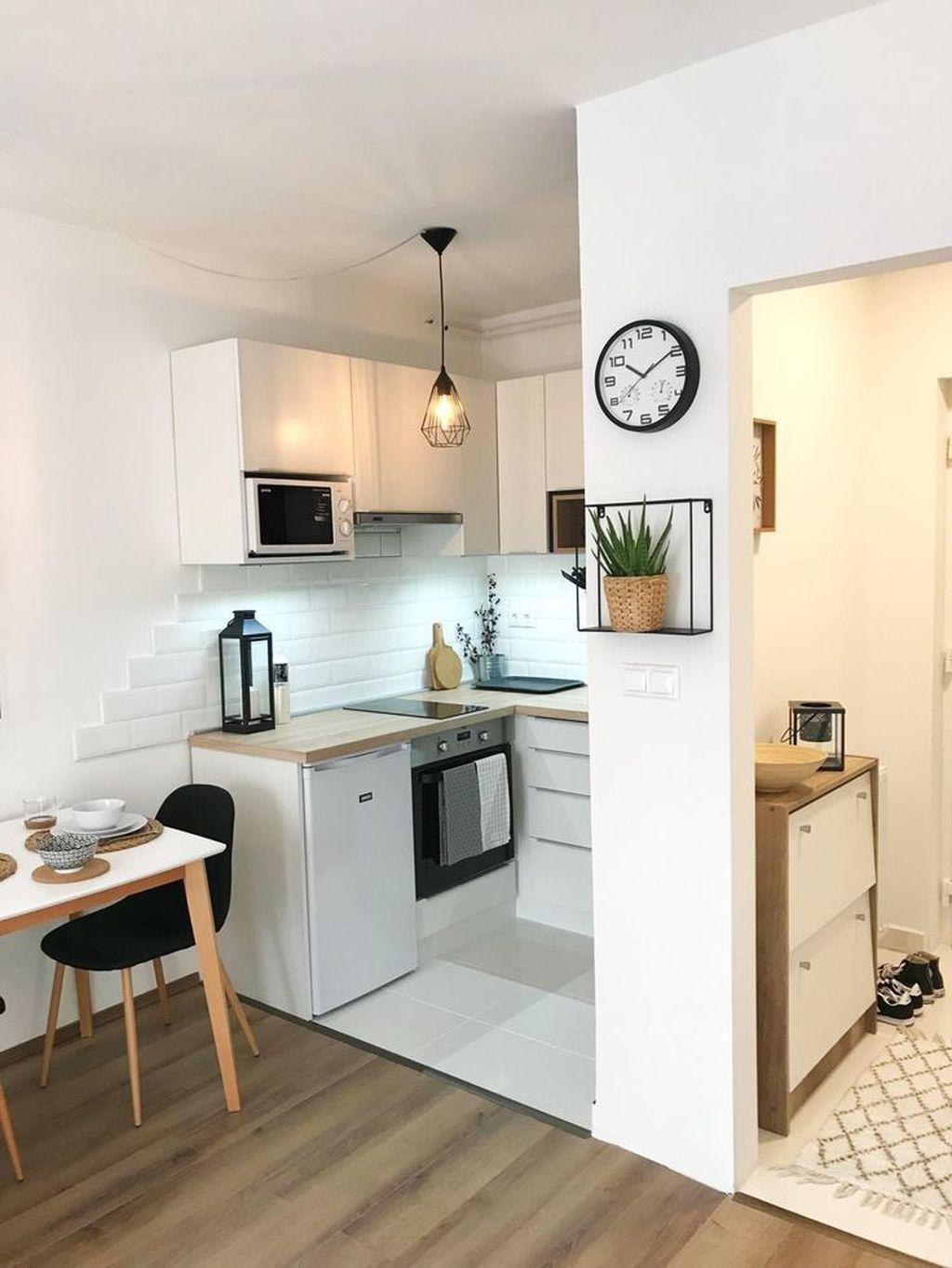 35 Brilliant Small Apartment Kitchen Ideas In 2020 Simple