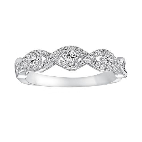 Simply Vera Vera Wang 14k White Gold 14ct TW RoundCut Diamond