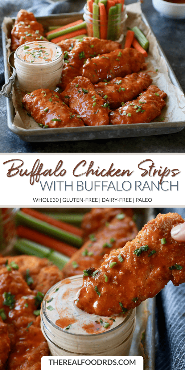 Buffalo Chicken Strips with Buffalo Ranch (Whole30) images