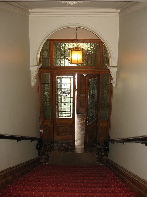 Looking Down The Staircase To The Front Doors Of The Ballarat Old