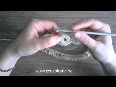 Colsjaal Haken Stap2 Youtube Haakpatroon Pinterest Crochet