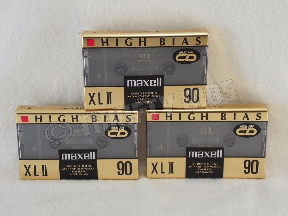 Blank Type II Audio Cassette Tape Maxell XLII 90