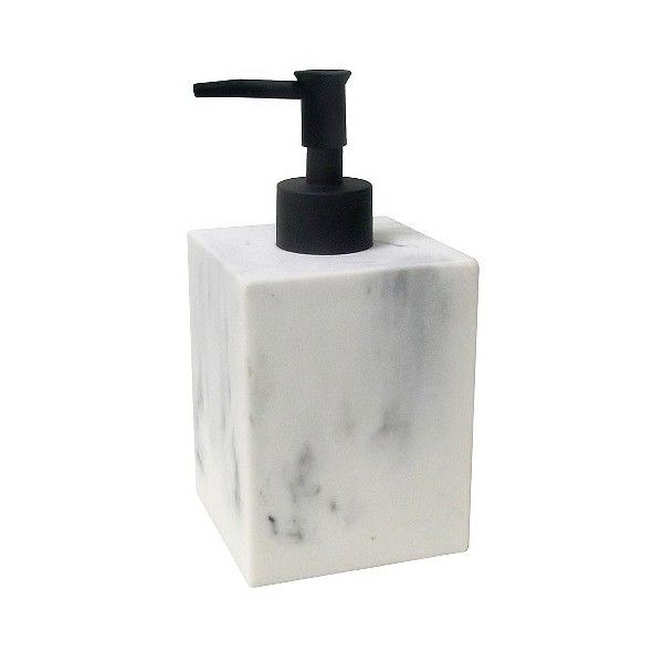 Marbleized Soap Dispenser Black ($6.99) ❤ Liked On Polyvore Featuring Home,  Bed U0026