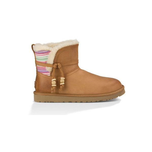 UGG Australia Auburn Serape 1010263-CHE-09 ($155) found on Polyvore featuring women's fashion, shoes, boots, ankle booties, lightweight boots, light weight ...
