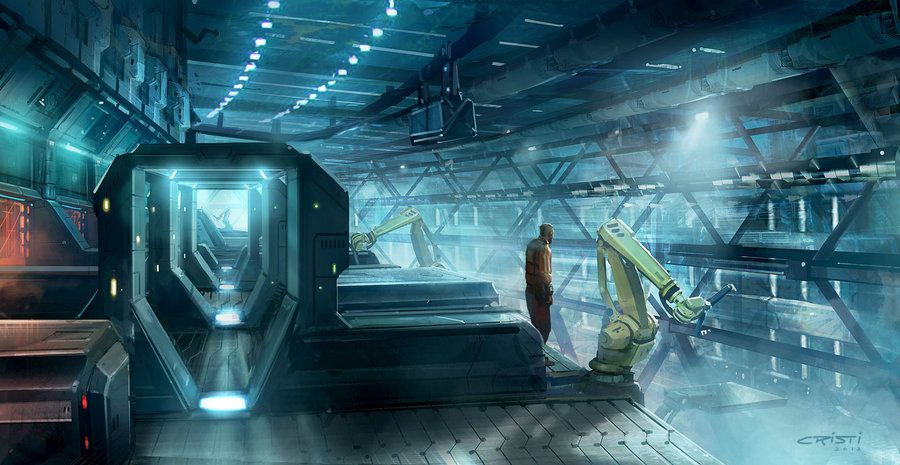 Factory Mood Concept by Cristi-B on DeviantArt