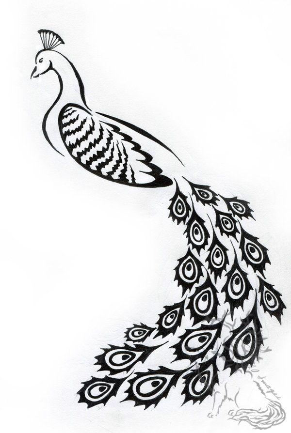 Tribal Peacock Design By Silverheartx On Deviantart Peacock Tattoo Tribal Tribal Tattoos