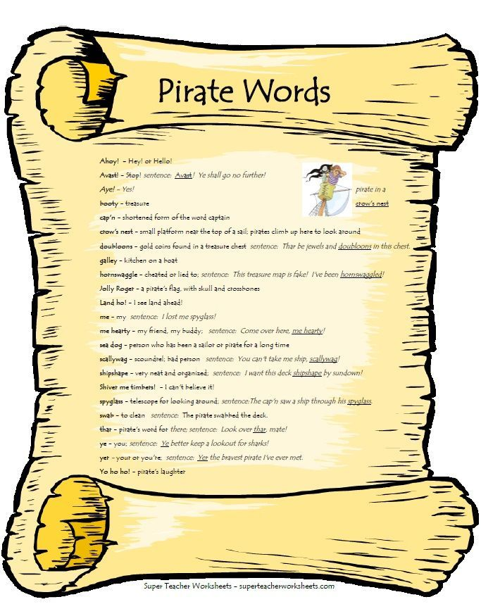 Arr mateys! Today is talk like a pirate day!! Pirate