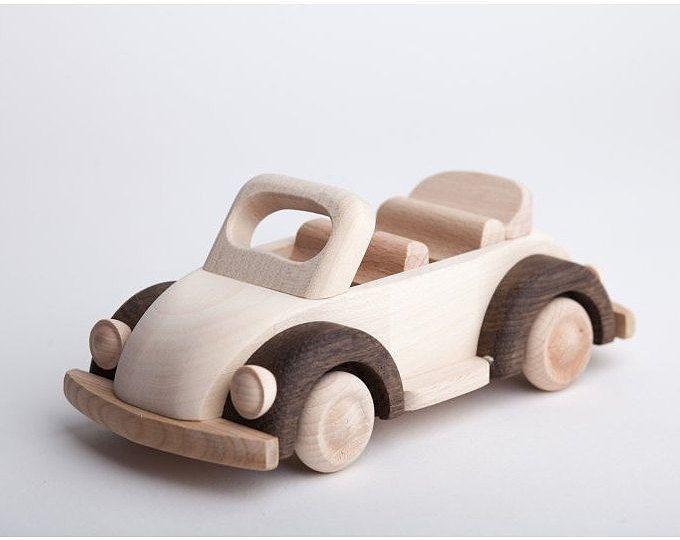 Wood toy car, classic car, green  sedan, imagination toy ,wooden sedan, classic sedan, no batteries needed
