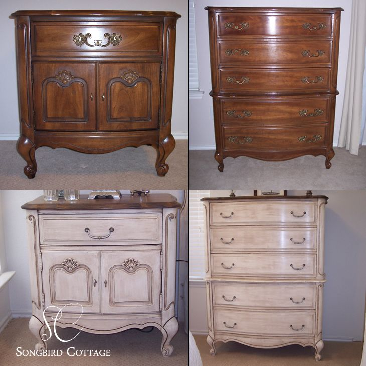 Chalk paint furniture french provencal furniture before and after with chalk paint chalk for How to paint my bedroom furniture