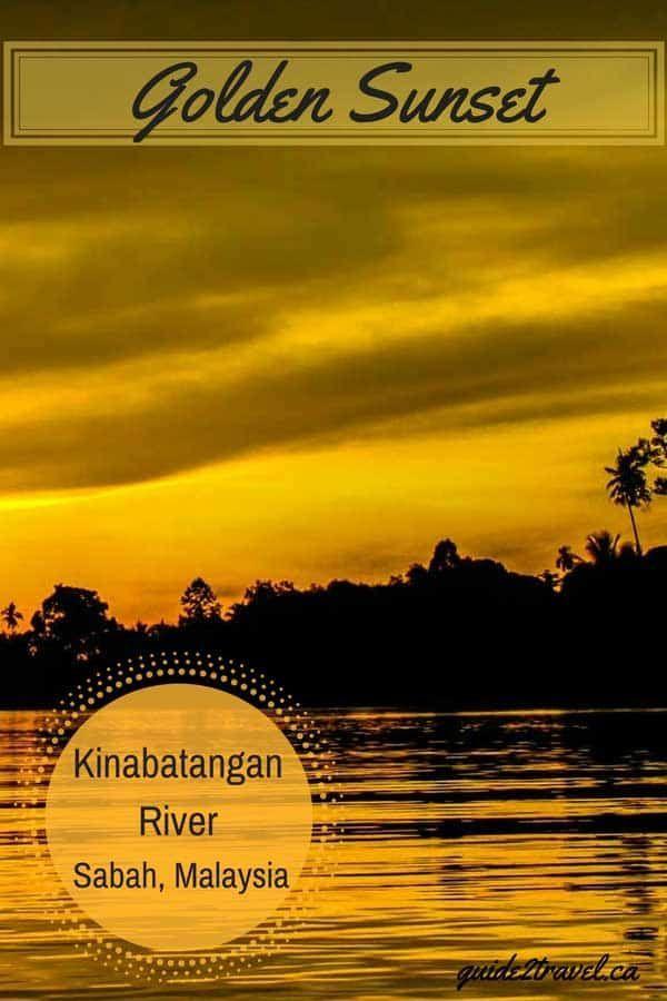 Golden #sunset over the #Kinabatangan River in #Sabah #Malaysia on a #rainforest #travel #ecotour