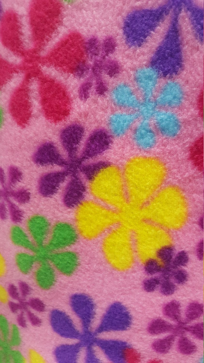 Super soft floral printed fleece fabric by the yard content