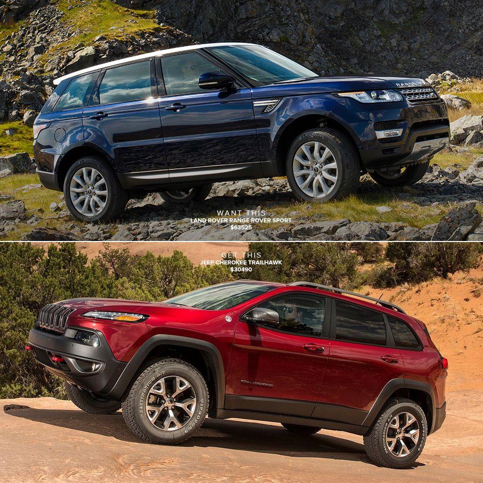 Range Rover Sport Vs Jeep Cherokee Trailhawk Jeep Cherokee