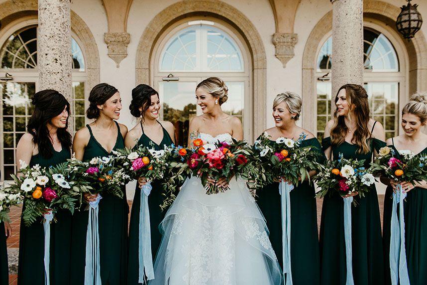 Secret Garden Inspired Wedding Andrea Pickryl Weds Seth Donovan Dark Green Bridesmaid Dress Green Bridesmaid Dress Summer Dark Green Wedding