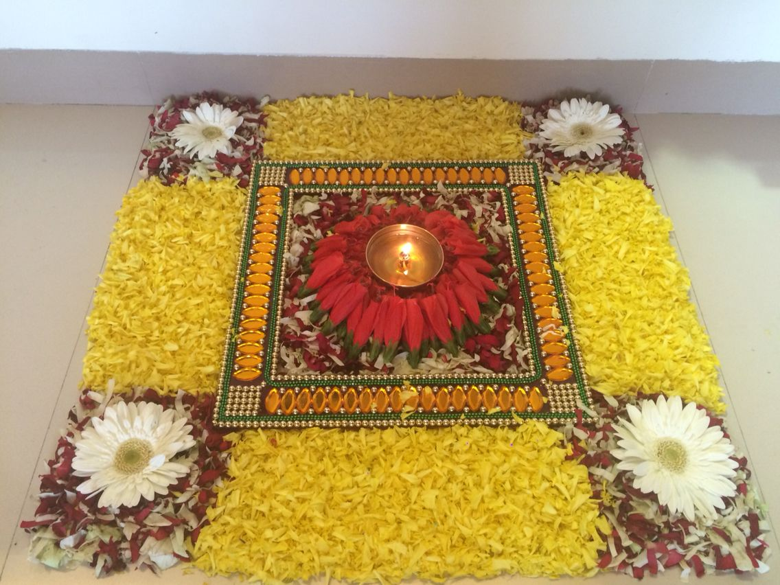 my art art pinterest diwali decoration and flower rangoli
