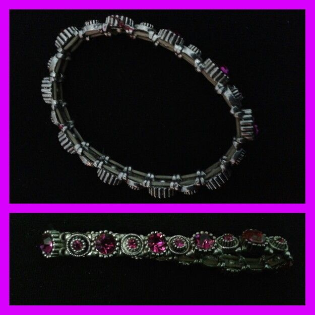 Pink colored stretchable bracelet a gift from my fav boss #Amita.