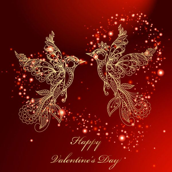 50 Best Valentines Day Design inspiration for you   Red background