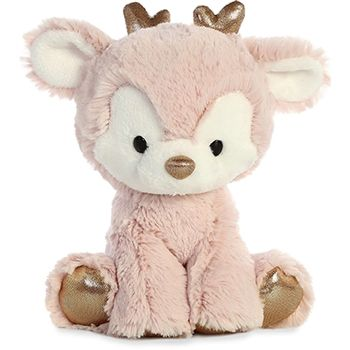 Rose Gold the Glitzy Tot Plush Reindeer by Aurora