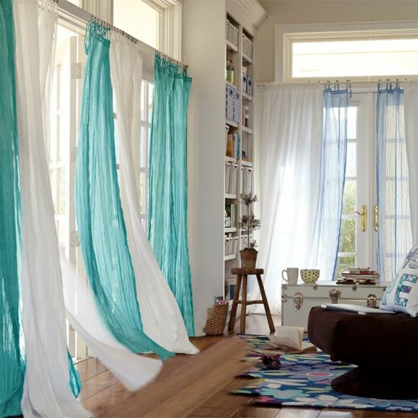 rideaux salon 30 id es de rideaux modernes rideaux contemporains contemporain et rideau salon. Black Bedroom Furniture Sets. Home Design Ideas