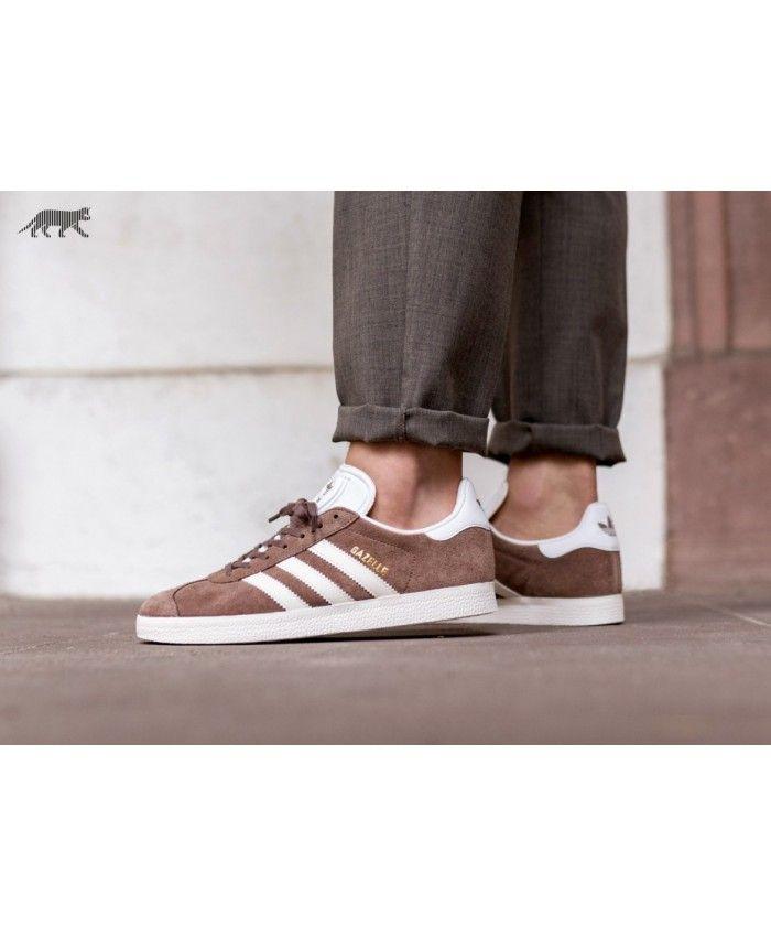 Adidas Gazelle Mens Trainers In Brown White | Adidas gazelle ...