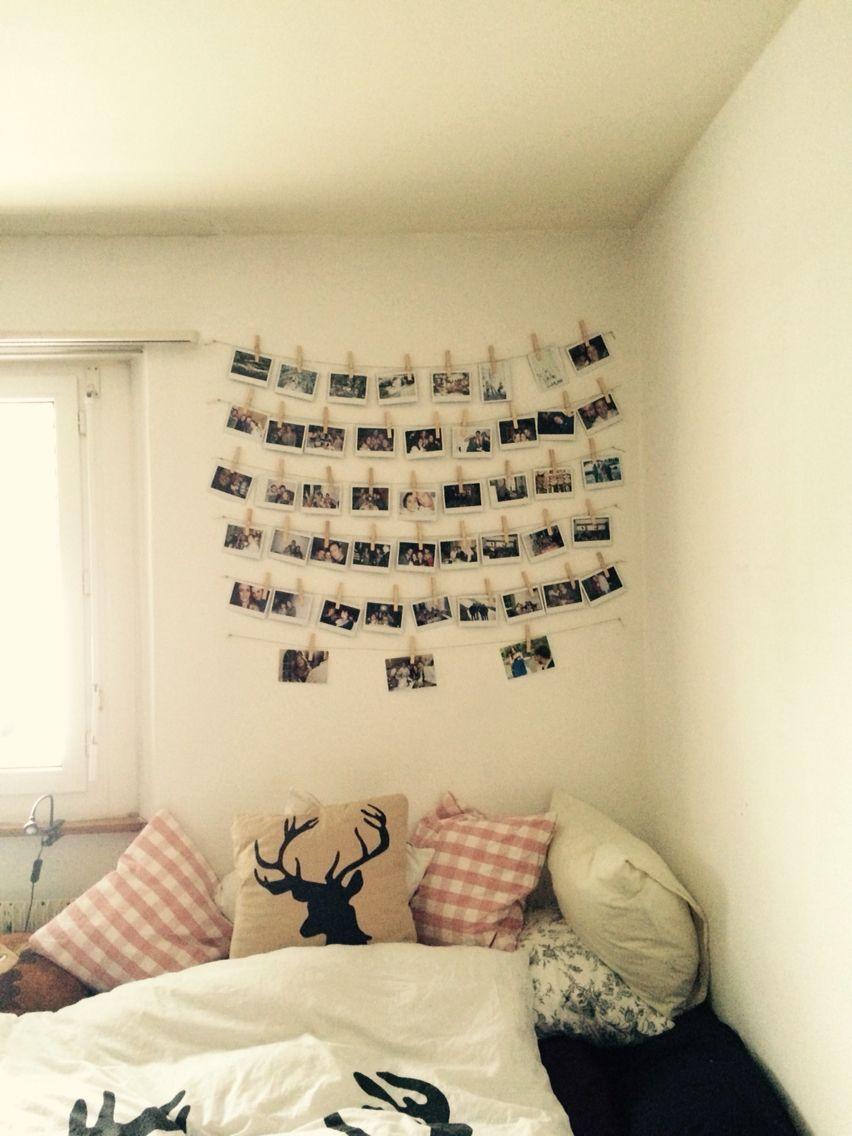 DIY Polaroid wall   Bedroom   Pinterest   Polaroid wall, Walls and ...