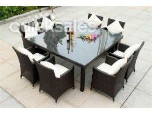 8 Seat Square Outdoor Dining Table