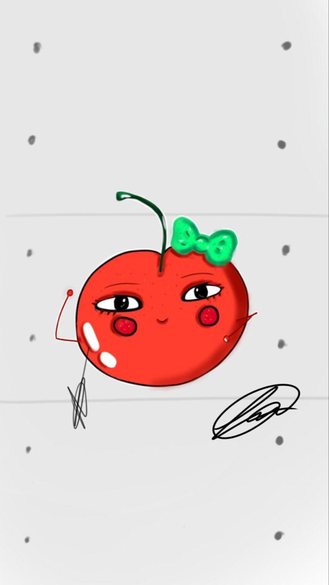 #cherry #fruit #digitalart #artoninstagram #cartoon