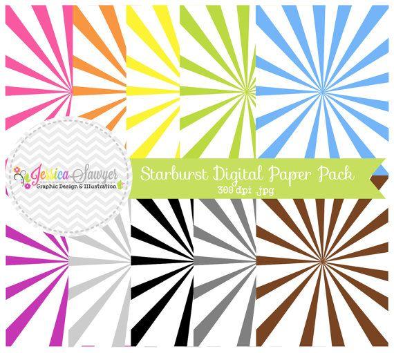 CLEARANCE  starburst digital paper pack  by JessicaSawyerDesign, $2.10