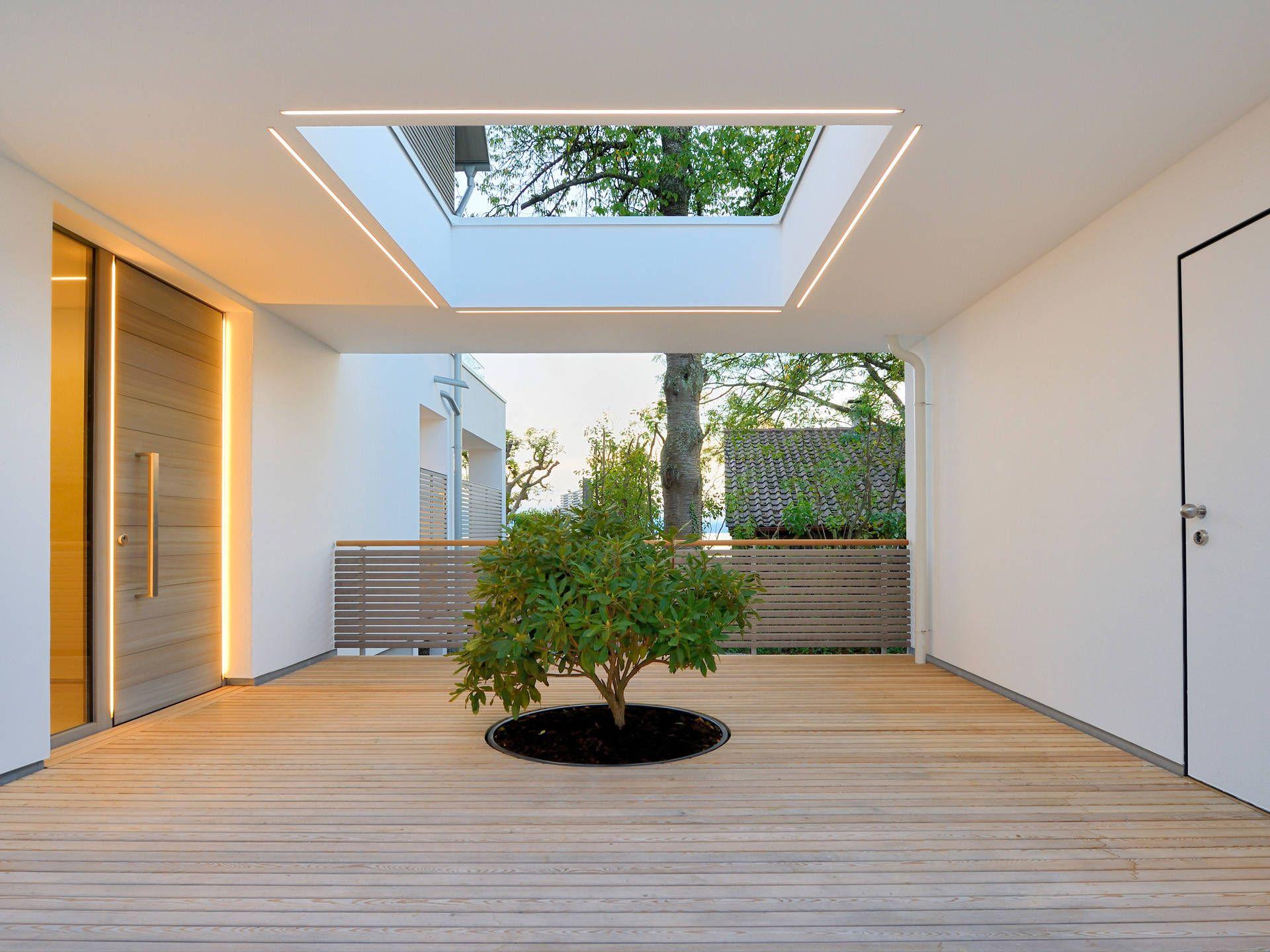 Musterhaus inneneinrichtung  Hauseingang vom Musterhaus Haus am See von Baufritz • Mit ...
