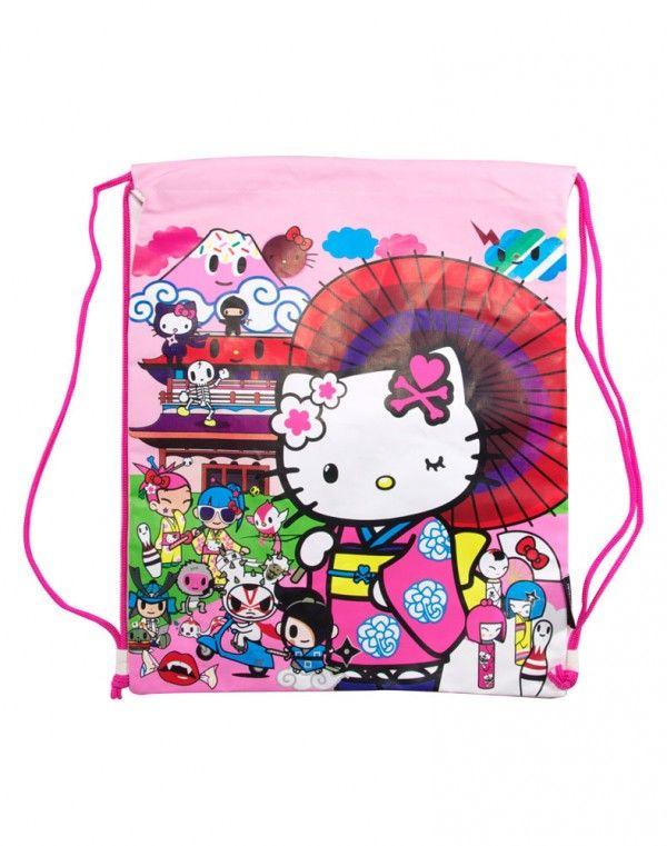 e46e97fd2bb4 tokidoki x Hello Kitty Kimono Drawstring Bag - Kitty Friends ...