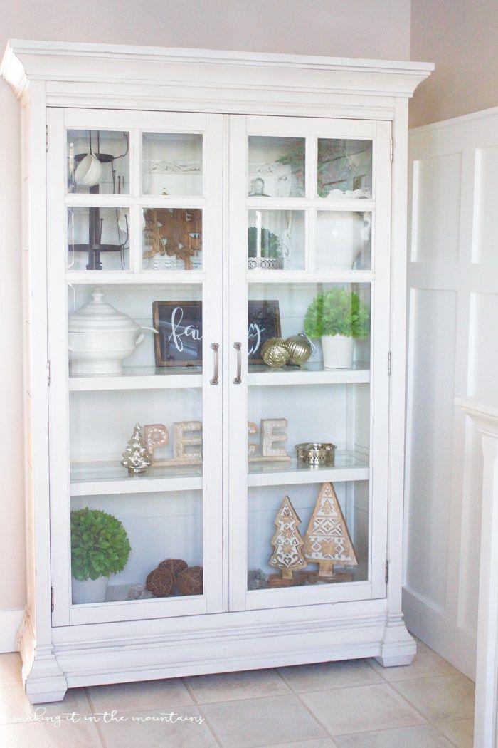 Farmhouse Style Christmas Curio Cabinet | furniture ...