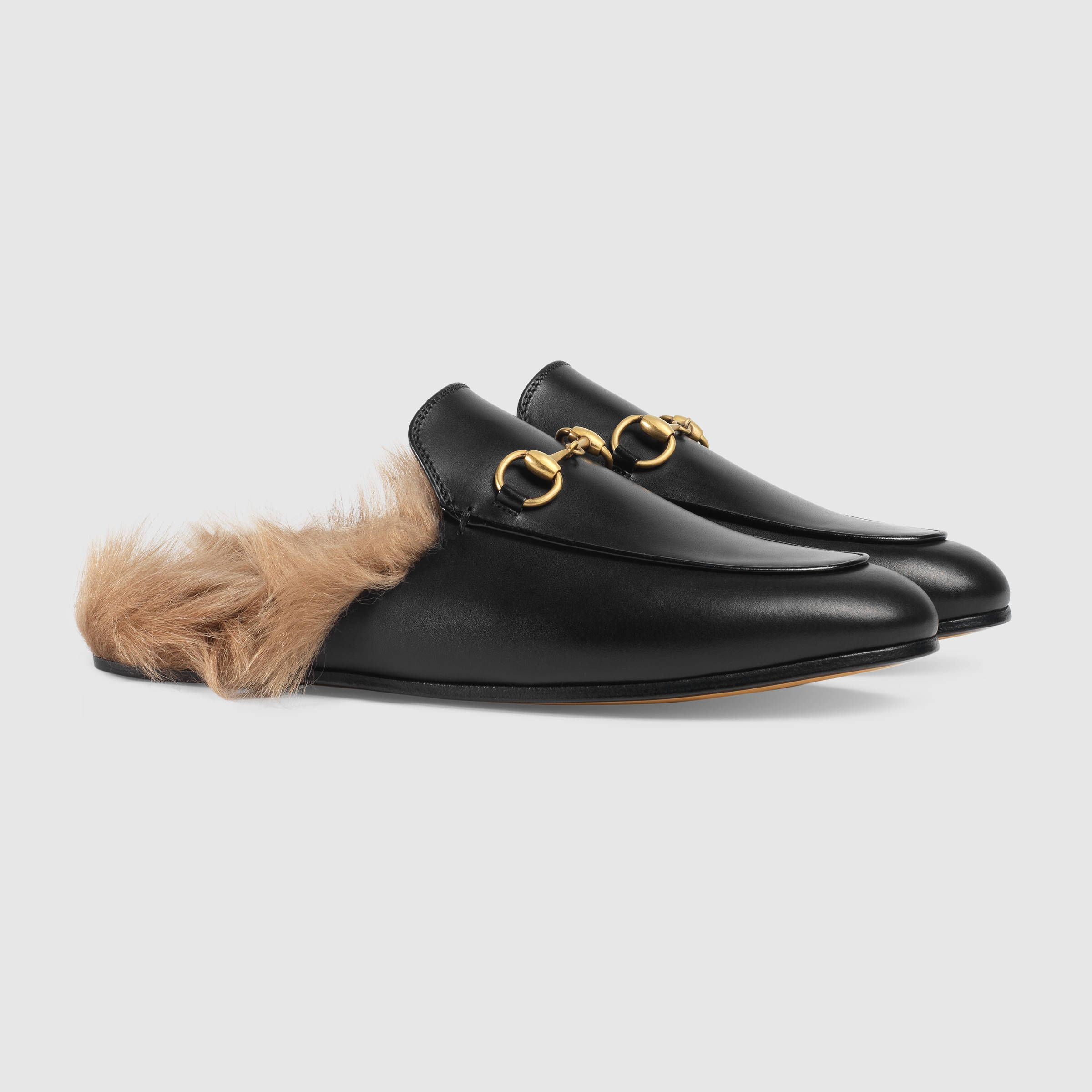 7079e3cda7f4 Gucci Women - Princetown leather slipper - 397749DKHH01063