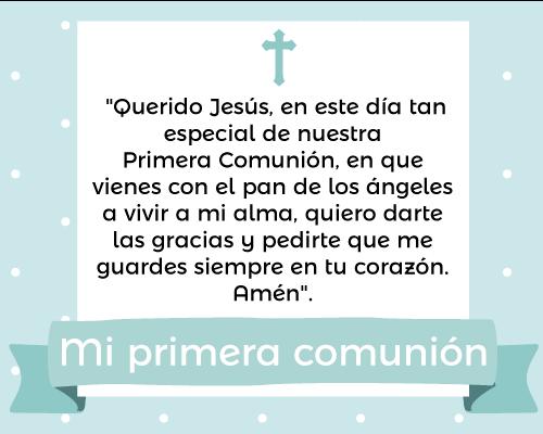 Frases Y Oraciones Para Primera Comunión Oraciones Primera