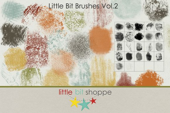 Check out Little Bit Brushes Vol.2 by Little Bit Shoppe Designs on Creative Market