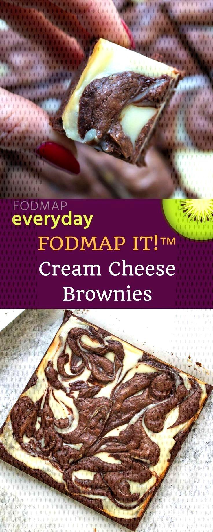 FODMAP IT! Cream Cheese Brownies - FODMAP Everyda /