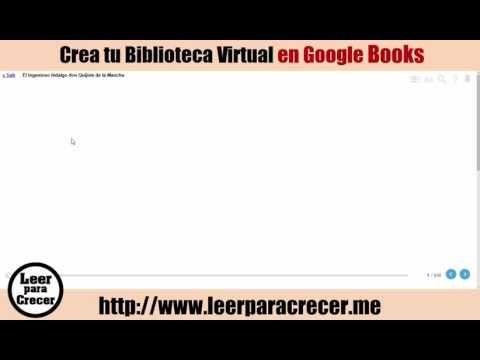 Como formar una Biblioteca Personal en Google Books - Leer para crecer