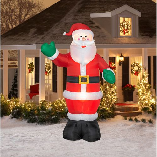 12 tall airblown christmas inflatable santa walmartcom