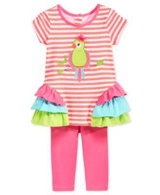 Nannette Toddler Girls' 2-Pc. Bird Tunic & Leggings Set | macys.com