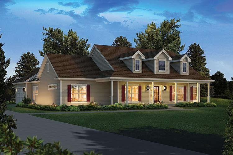House Plan 5633 00273 Cape Cod Plan 2 392 Square Feet 4 Bedrooms 2 5 Bathrooms Ranch Style House Plans Ranch House Plans Coastal House Plans