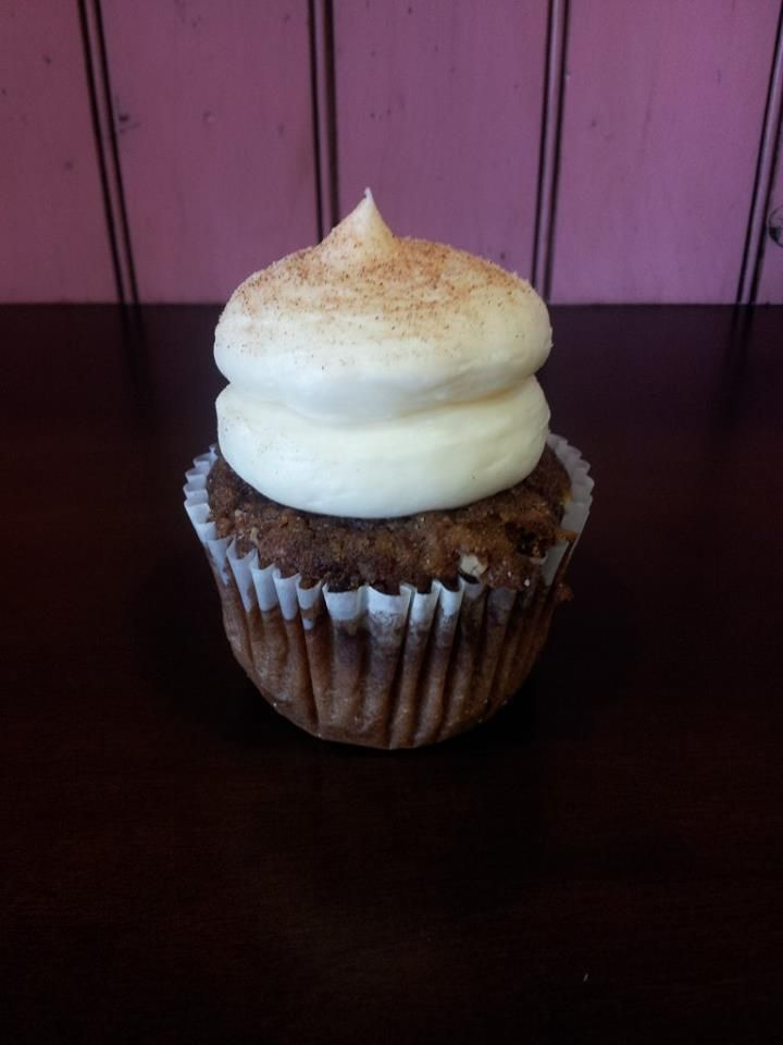 Apple Spice Everything Nice Apple Spice Cake With Raisins Topped With Cream Cheese Frosting And Cinnam Apple Spice Cake Specialty Cupcakes Cupcake Flavors