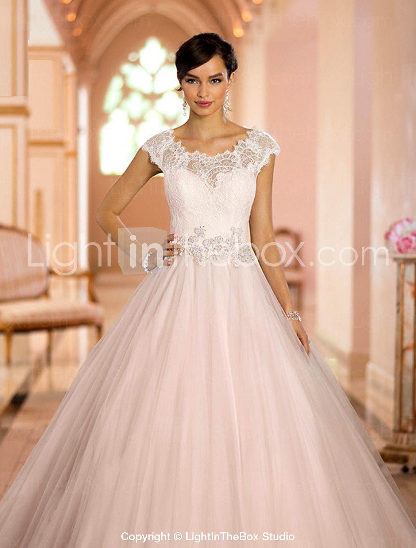 Vestido de Noiva - Marfim Baile U Profundo Cauda Escova Tule ...
