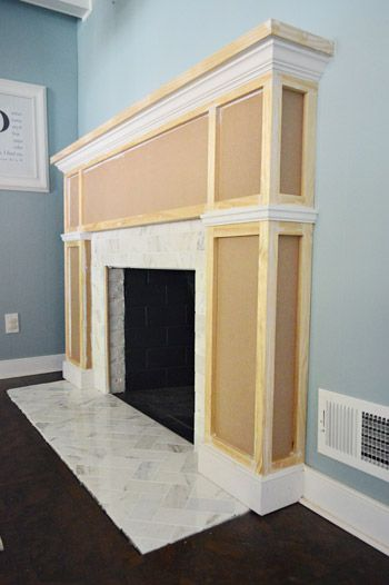 Our Fireplace Makeover Building A New Mantel Young House Love Home Fireplace Brick Fireplace Makeover Fireplace Makeover