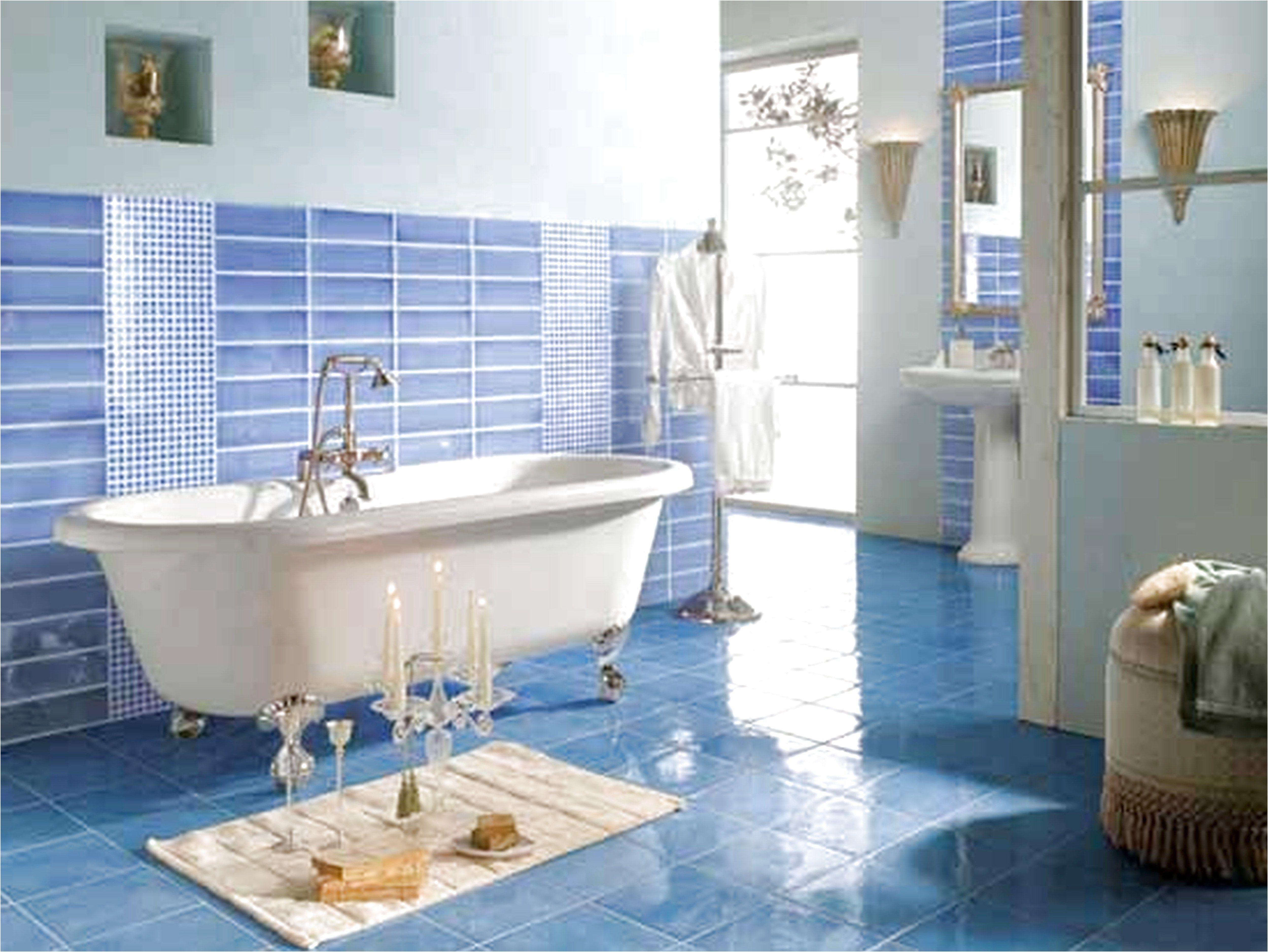 Different Designs For Your Floor Using Ceramics Blue Bathroom
