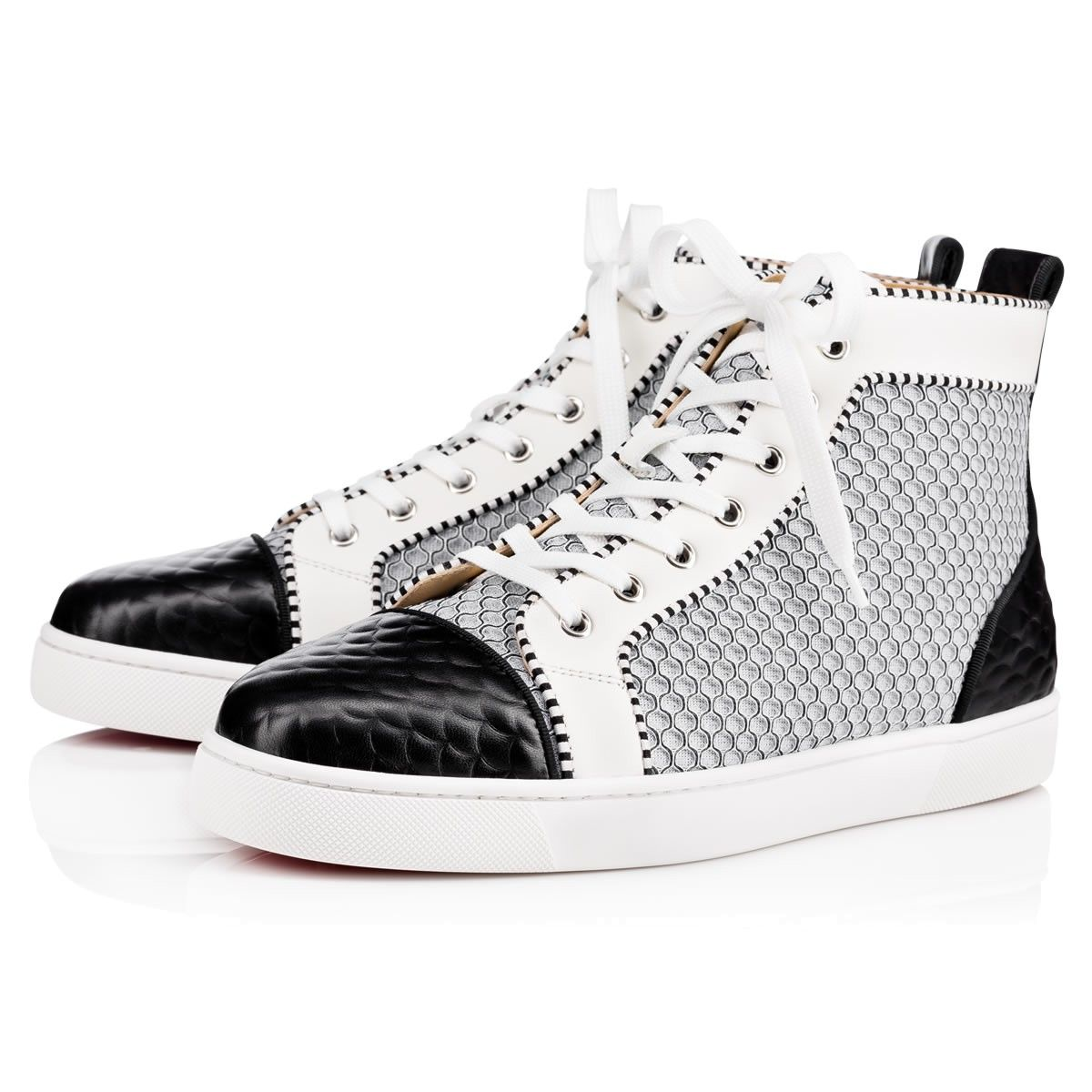 CHRISTIAN LOUBOUTIN Louis Orlato Men S Flat Version Black White Leather.   christianlouboutin  shoes   90b861ab5a33