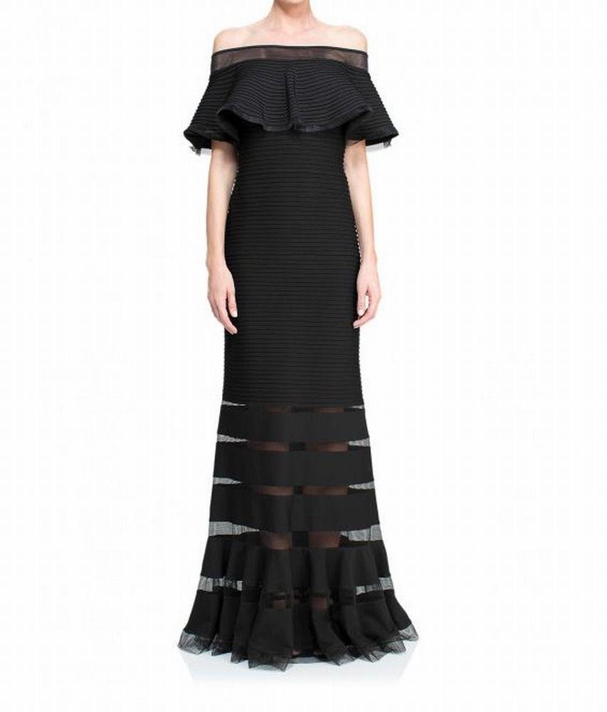 Tadashi Shoji Women/'s Cold-Shoulder Pintuck Dress