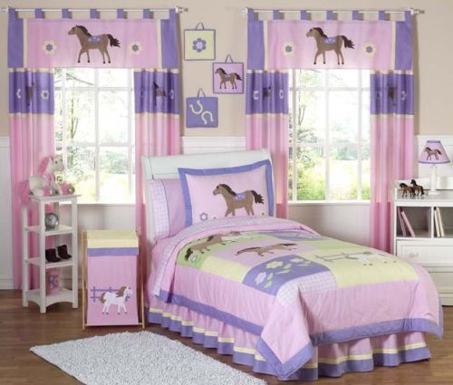 New Horse Cowgirl Kid Full Queen Size Bed Bedding Comforter Set For Girl  Bedroom | EBay