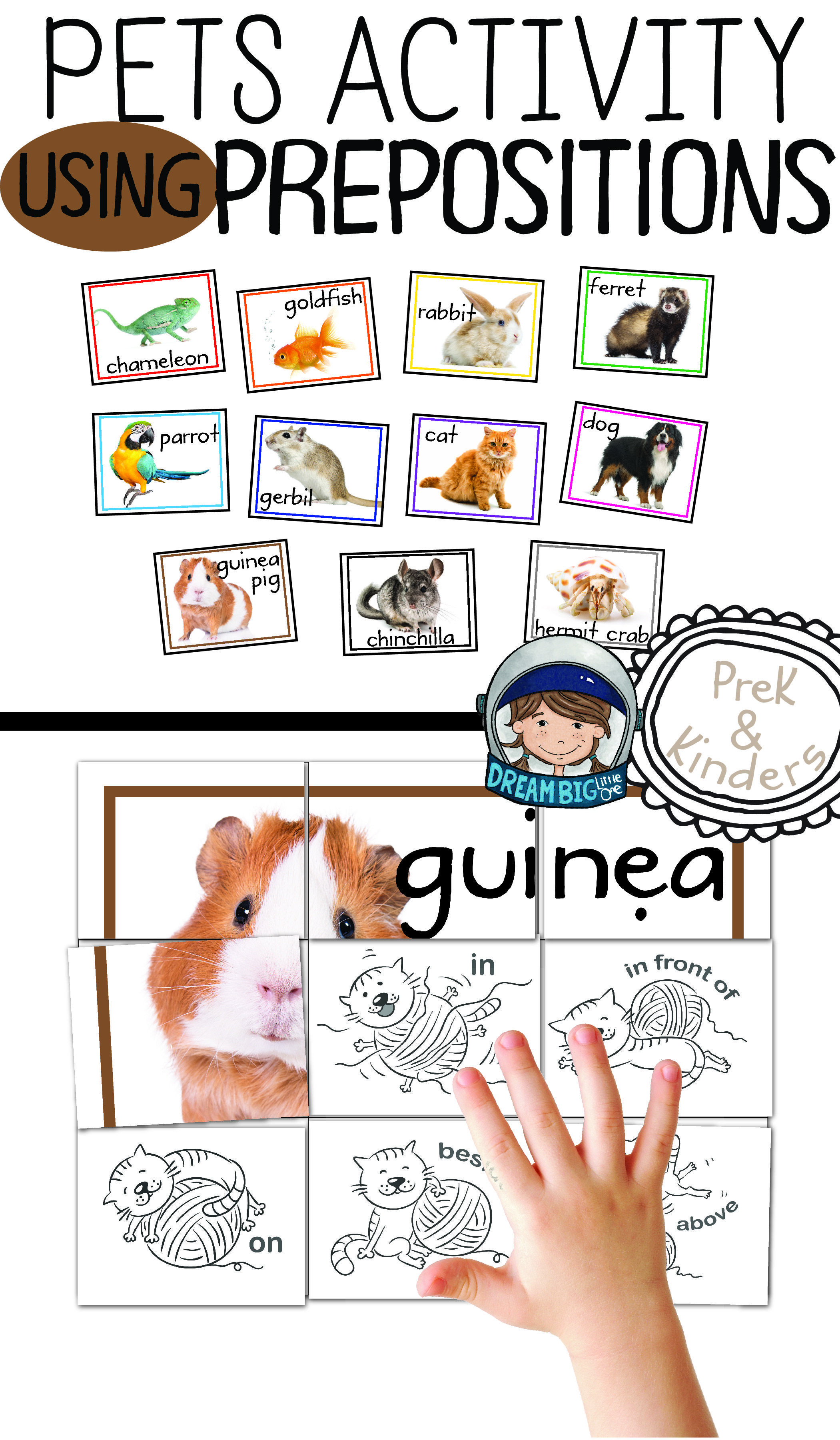 Pet Activity Prepositions Directional Positional Words