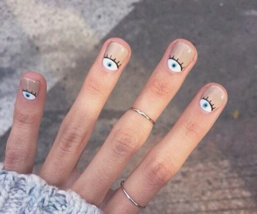 40 Simple And Easy Halloween Nail Art Designs 2019 Minimalist Nail Art Minimalist Nails Halloween Nails